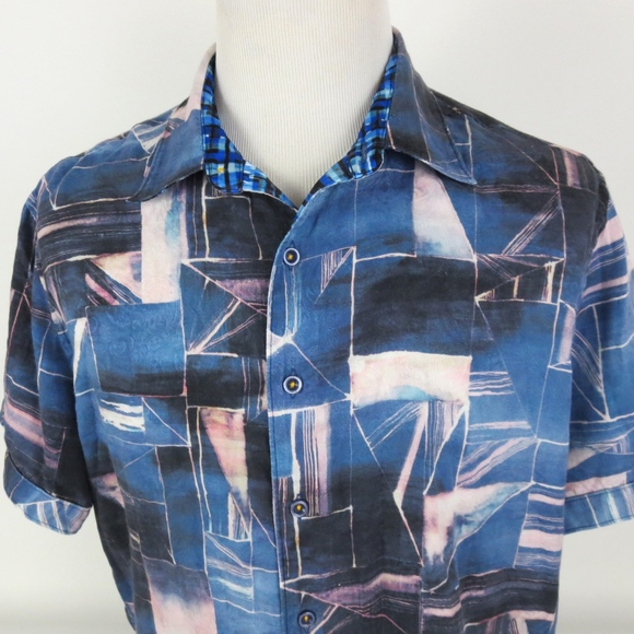 Robert Graham Other - Robert Graham JAWS DEEP SEA XL Short Sleeve Shirt